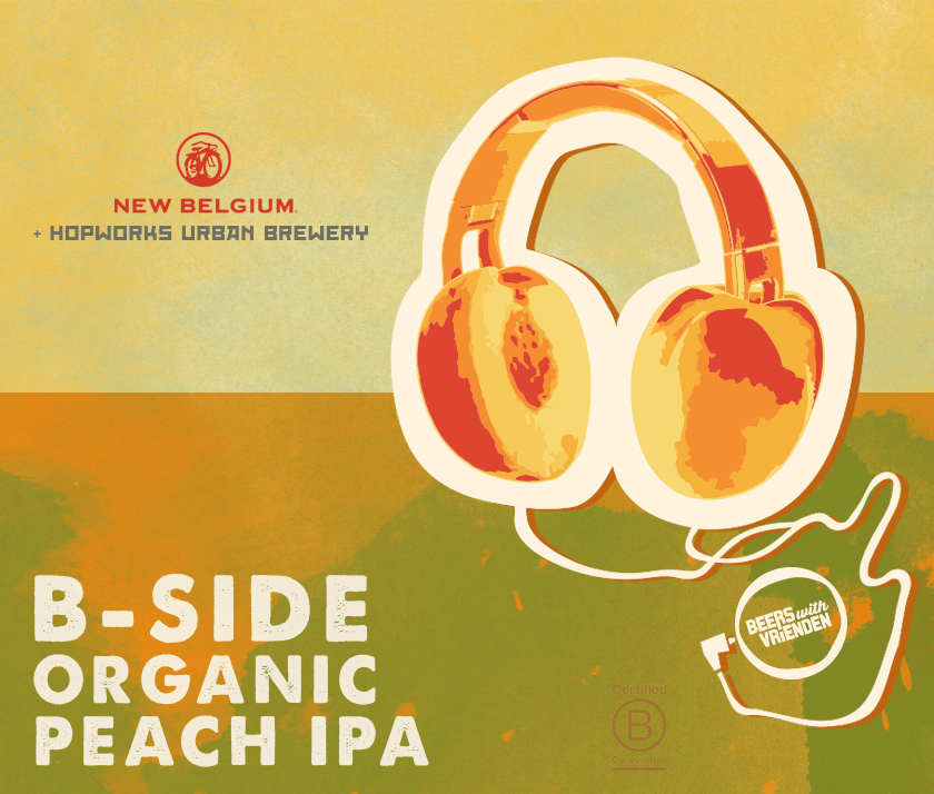 New Belgium B-Side Organic Peach IPA
